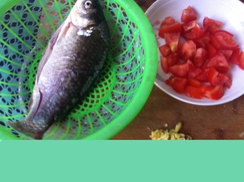 番茄鲫鱼汤的做法图解1