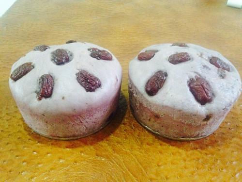 紫薯葡萄干红枣发糕的做法图解7