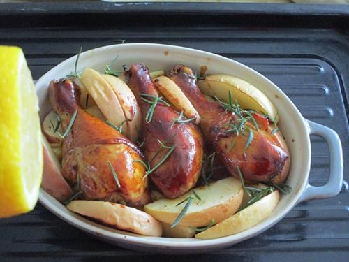 柠香苹果烤鸡腿的做法图解6