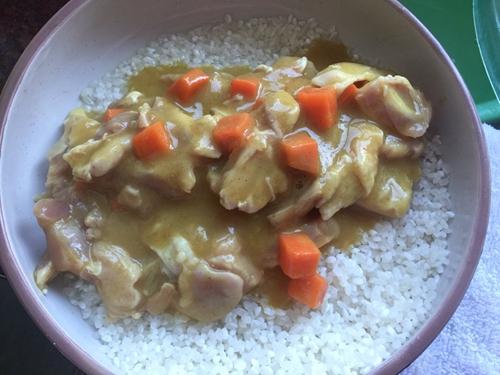 板栗咖喱鸡肉蒸饭的做法图解9