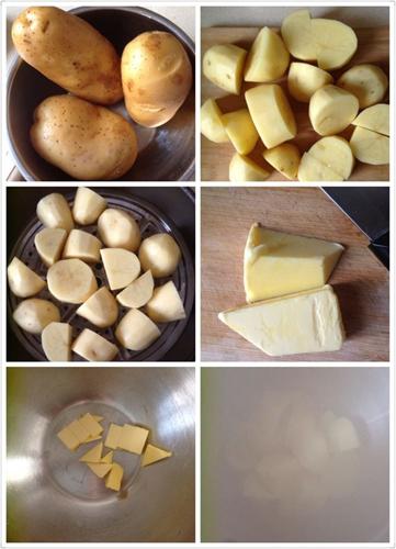 超豪华版土豆泥培根芝士焗土豆泥的做法图解1