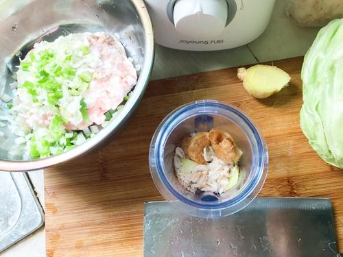 孕妇食谱  蔬菜猪肉蒸饺的做法图解2