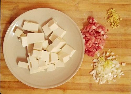 巴蜀麻婆豆腐无盐肉末版的做法图解1