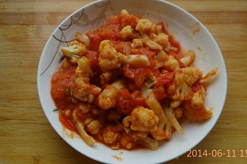 菜花烩西红柿