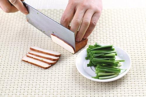 豉香韭菜香干的做法图解1