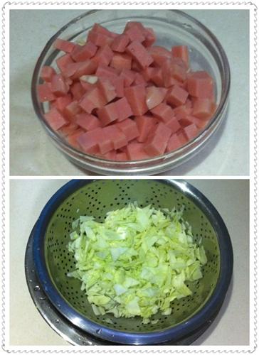 包菜炒饭的家常做法