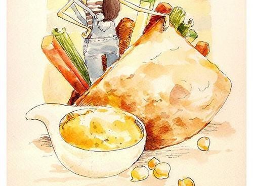 鹰嘴豆泥蔬菜饼的家常做法