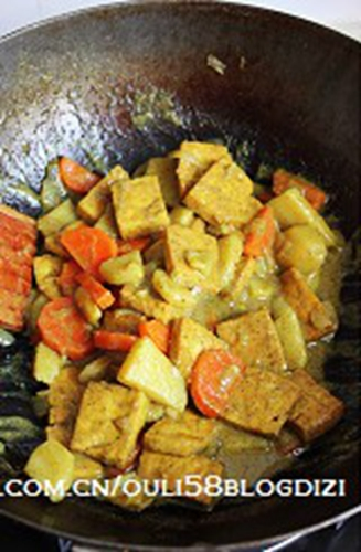 豆腐素咖喱的做法图解8