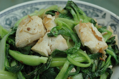 青菜炒豆腐的家常做法