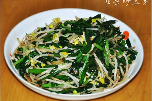 韭菜炒豆芽的家常做法