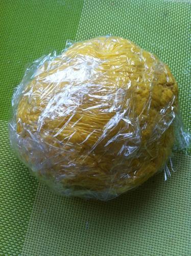 南瓜豆沙包的做法图解4