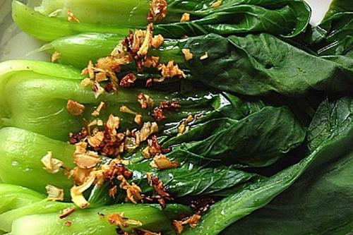 水煮碧玉浇油青菜的家常做法