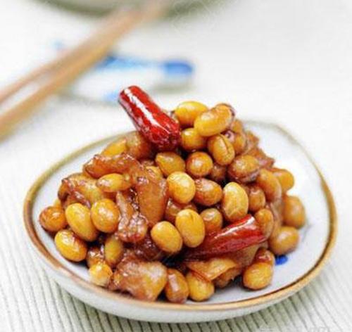 萝卜干炒黄豆的家常做法