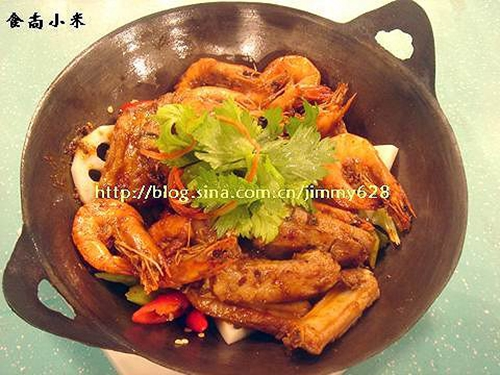 干锅排骨香辣虾