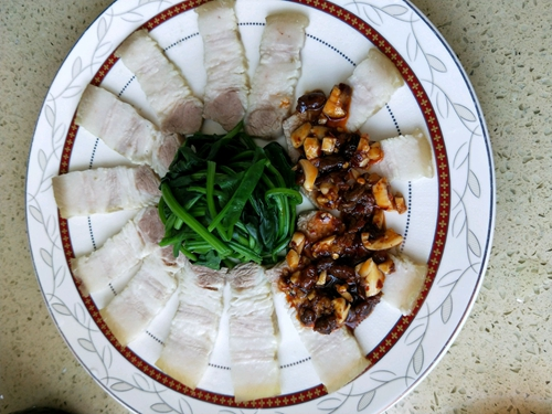 豆豉蒜泥白肉的做法图解9