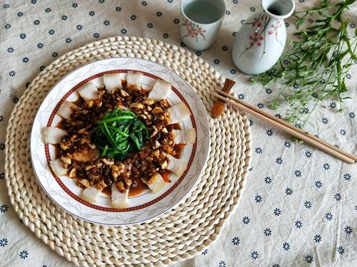 豆豉蒜泥白肉的做法图解10