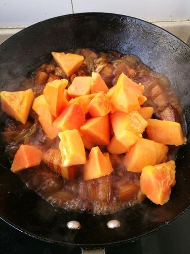 木瓜烧肉的做法图解10