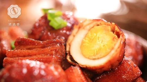 虎皮蛋红烧肉的做法图解8