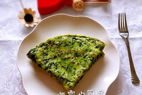 早餐菠菜饼