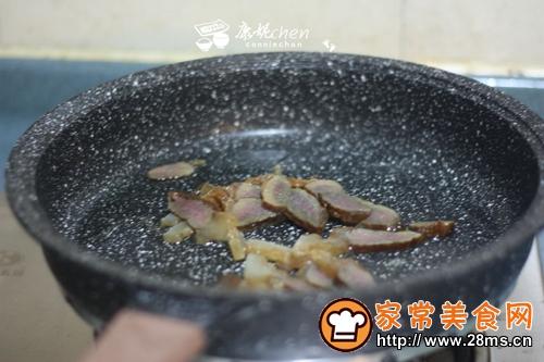 腊肉炒包菜的做法图解2