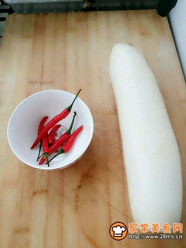 凉拌萝卜的做法图解1
