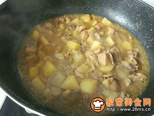 咖喱土豆炖鸡腿的做法图解9