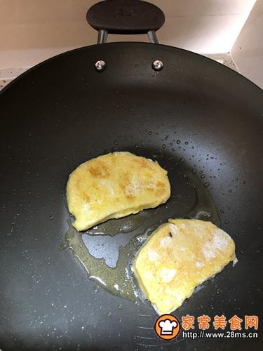 黄油煎面包片的做法图解5