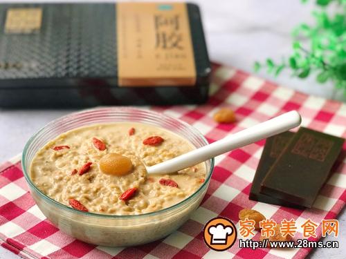 养颜早餐 阿胶牛奶麦片的做法