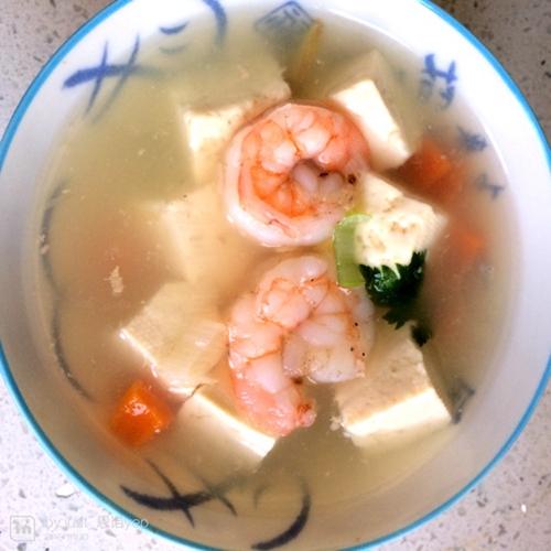 虾仁豆腐汤的做法图解3