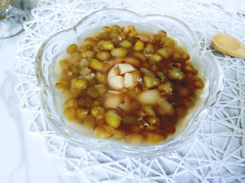 绿豆莲子汤的做法图解5