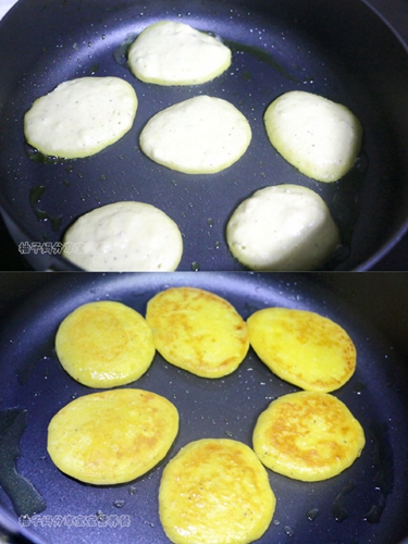 南瓜莲子薏米牛奶饼的做法图解7