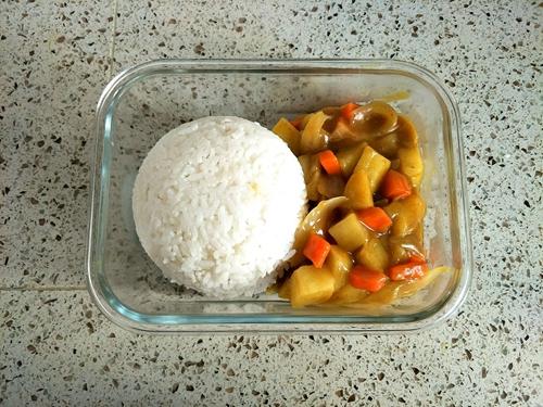 咖喱鸡排便当的做法图解13
