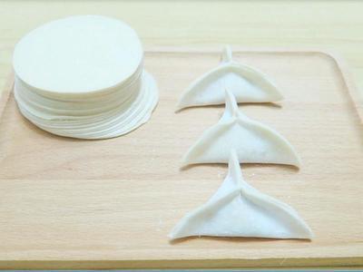 手工三角饺子