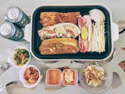 家常韩式烤肉套餐 烤猪五花肉