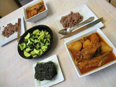 韩式辣炖马铃薯肋排