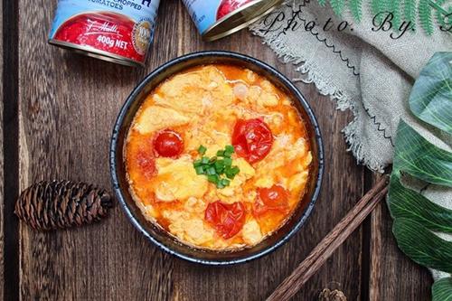 超级下饭的穆蒂樱桃番茄鸡蛋汤