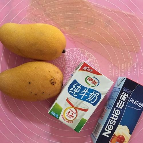 芒果奶油慕斯杯的做法图解1