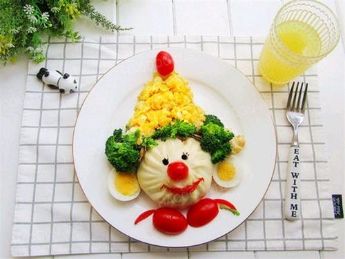 小丑包子(童趣早餐)的做法图解1