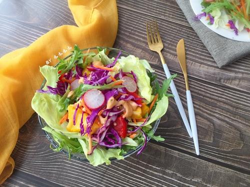 彩蔬沙拉的做法图解6