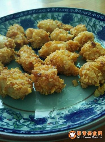 外酥里嫩鸡米花的做法图解12