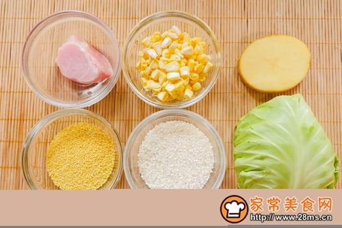 宝宝辅食-土豆二米肉焖饭的做法图解1