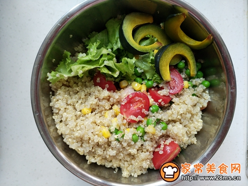 减脂餐—藜麦虾仁沙拉的做法图解10