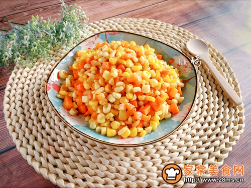 松仁玉米胡萝卜丁的做法图解8