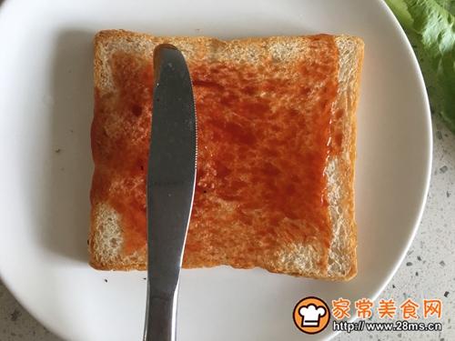 营养早餐—火腿三明治的做法图解5