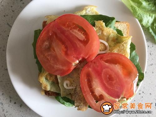 营养早餐—火腿三明治的做法图解8