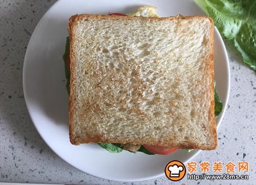 营养早餐—火腿三明治的做法图解9