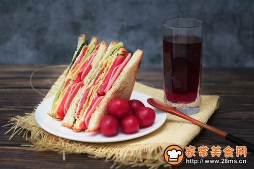 营养早餐—火腿三明治的做法图解10