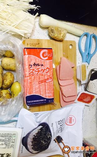 韩国鱼籽海苔拌饭的做法图解1