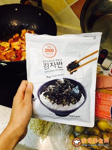 韩国鱼籽海苔拌饭的做法图解4