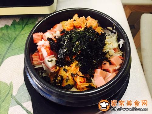 韩国鱼籽海苔拌饭的做法图解5